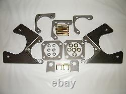 Gm 10 & 12 Bolt Rear Disc Brake Conversion Kit Foré & Slotted Rotors 4 Wheel