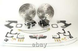 Gm 10 & 12 Bolt Rear Disc Brake Kit Foré Rotors Fendillés Chevelle, Cutlass Gto