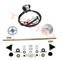 Go Kart Arrière Axle Kit Brake Master Cylinder Disc Rotor Hub Drift Trike Cart Vtt
