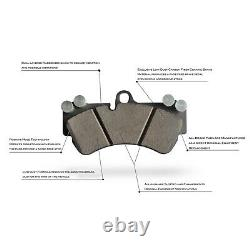 Kit À L'avant Et À L'arrière Rotors De Frein Perforés Et À Fentes Avec Coussinets En Céramique
