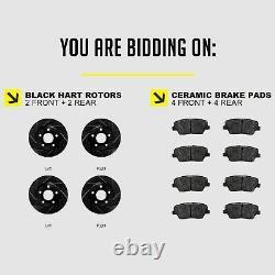 Kit Complet Rotors De Frein Percés À Fente Noir Hart Et Pad En Céramique Bhcc. 67077.02