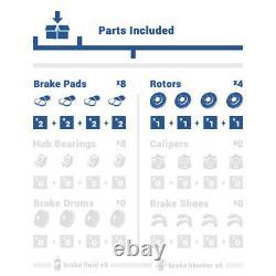 Pour 2006 2012 2013 Lexus Is250 Avant+rear Perle Rouleaux De Frein À Fente En Céramique Pads