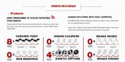 Rotors De Frein À Fente Avant + Arrière Et Plaquettes En Céramique Pour Vw Golf Jetta Rabbit