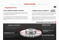 Rotors De Frein À Fente Avant+arrière Et Plaquettes En Céramique Pour 97 04 Chevrolet Corvette C5