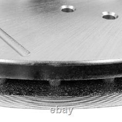 Rotors De Frein À Fente Avant+arrière Et Plaquettes En Céramique Pour Chevy Escalade Silverado