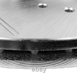 Rotors De Frein À Fente De Forage Avant + Arrière Et Plaquettes En Céramique Pour Dodge Charger Challenger