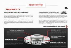 Rotors De Frein À Fente De Forage Avant Et Arrière Et Plaquettes En Céramique Pour Cadillac Chevy Gmc