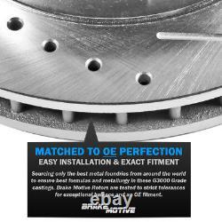 Rotors De Frein À Fente De Forage Avant + Pads Céramiques Pour Chevy Malibu Cobalt Saturne