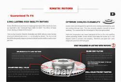 Rotors De Frein À Fente De Perceuse Avant + Coussinets En Céramique Pour Mercedes-benz C250 C300