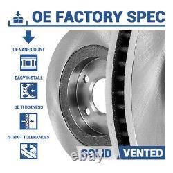 Rotors De Frein Avant+arrière + Frein En Céramique Hd Pour Chevy Silverado 1500 Gmc Sierra