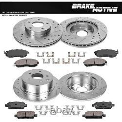 Rotors De Frein Avant+arrière +plaquettes En Céramique Pour 2002 2003 2004 2005 2006 Nissan Altima