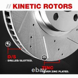Rotors De Frein Fendés À Fente Avant Et Arrière Et Plaquettes En Céramique Pour Infiniti Nissan
