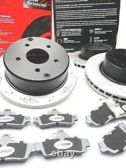 Rotors De Frein Fendés & Bremaxx Plaquettes En Céramique Avant Commodore Vt VX Vu Vy Vz