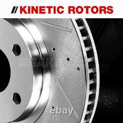 Rotors Percés Avant Arrière + Plaquettes De Frein En Céramique Pour Jeep Grand Cherokee Commander