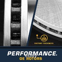 Routeurs De Frein Avant + Arrière + Plaquettes En Céramique Pour 2006 2007 2008 2017 Dodge Ram 1500