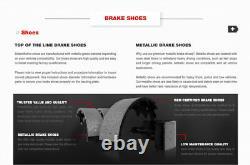 Routeurs De Frein + Pads Et Tambours En Céramique + Chaussures Pour 87 88 89 90 91 92 93 Mustang