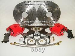 Wilwood Gm 10/12 Bolt Rear Disc Brake Conversion Kit Foré & Rotors Fendus